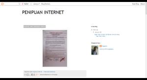 PENIPUAN INTERNET  Januari 2014