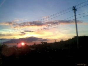 Sunrise. Sindoro mountain. Photo taken by Nokia E63. No edit. April, 2010. On my way to Temanggung.
