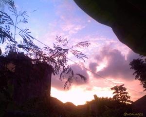 Palettes sunset. Yogyakarta. March, 2010