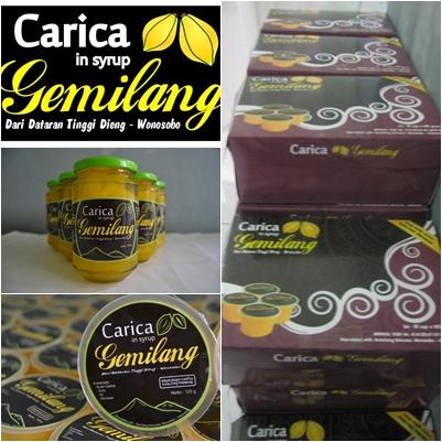 Carica. Salah satu kuliner khas daerah di Indonesia.