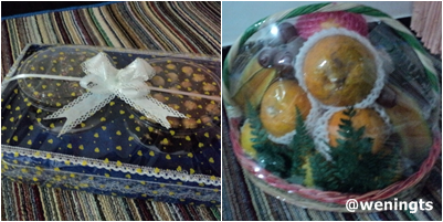 Pelengkap makanan dan jajanan. Ada kue coklat favorit dan buahbuahan :)