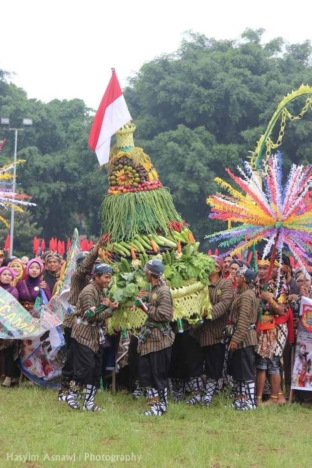 Gunungan. Kirab Budaya memperingati Hari Jadi Kota Wonosobo ke 189