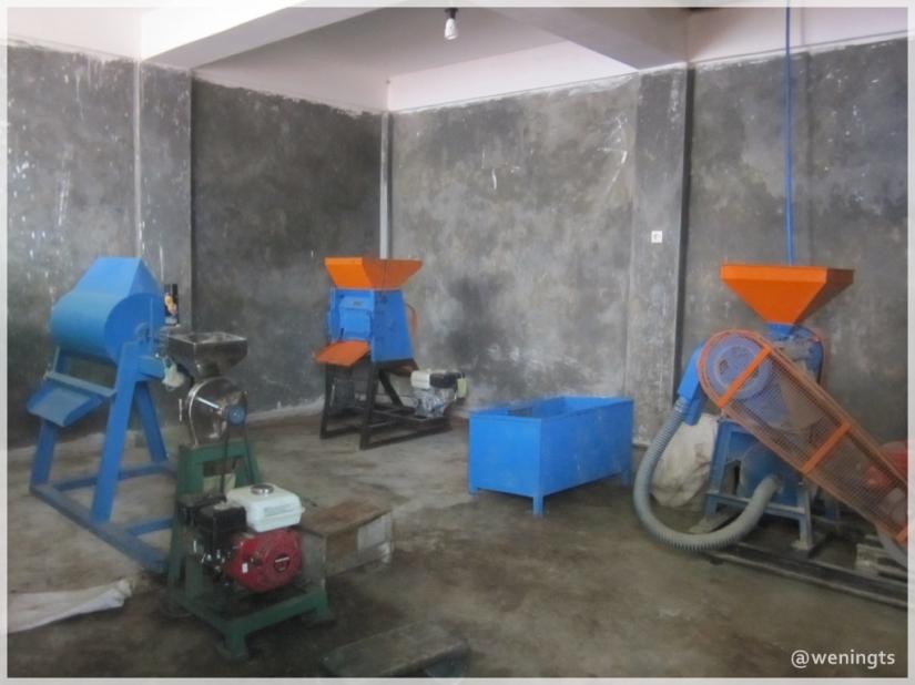 Sebagian mesin yang digunakan untuk mengolah Bowongso Coffee