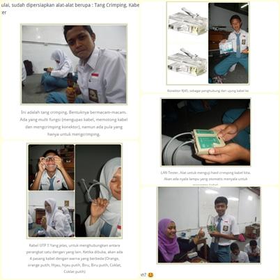 Langkah-langkah cara membuat kabel jaringan yang saya sisipkan foto siswa di artikel saya